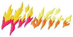 Wildfire Flames embroidery design
