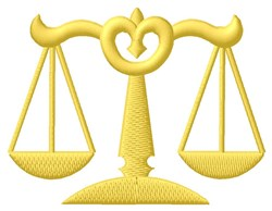 Justice Scales embroidery design