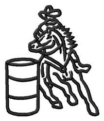 Barrel Race embroidery design