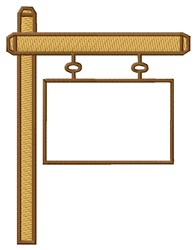 Sign Post embroidery design