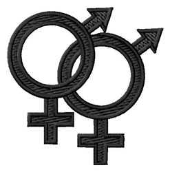 Gender Symbol embroidery design