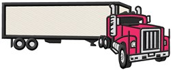 Big Rig embroidery design