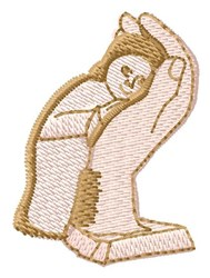 Baby in Hand embroidery design