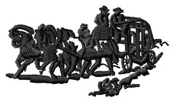 Stagecoach embroidery design