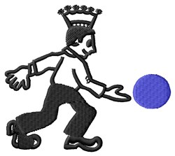 Bowling King embroidery design