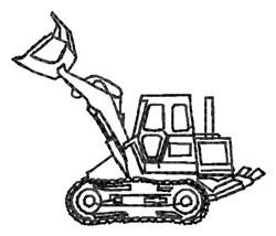Loader Outline embroidery design