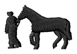 Man & Horse embroidery design