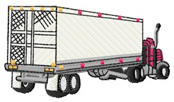 Truck & Trailer embroidery design