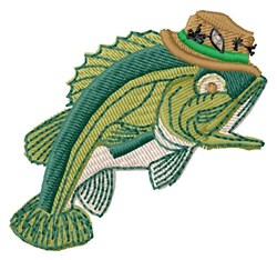 Fish in Hat embroidery design