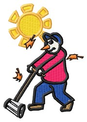 Mowing Lawn embroidery design