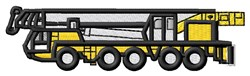 Boom Truck embroidery design