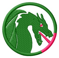 Dragon Circle embroidery design
