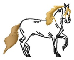 Outline Horse embroidery design