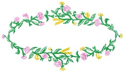 Floral Oval embroidery design
