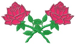 Crossed Roses embroidery design