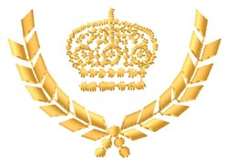 Crown Laurel Wreath embroidery design