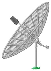Satellite Dish embroidery design