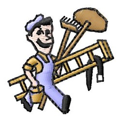 Janitor embroidery design