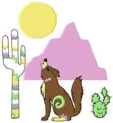 Coyote Scene embroidery design