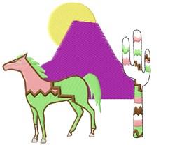 Horse Scene embroidery design
