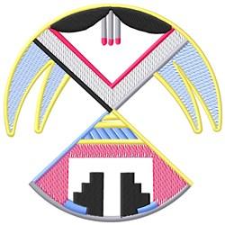 Thunderbird Circle embroidery design