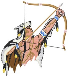 Indian Archer embroidery design