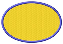 Filled Oval embroidery design