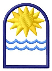 Sun & Water embroidery design