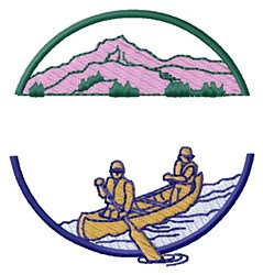 Canoe Scene embroidery design