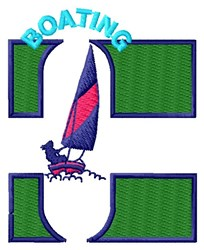 Boating embroidery design