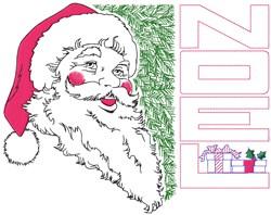 Santa Noel embroidery design