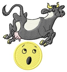 Cow Over Moon embroidery design