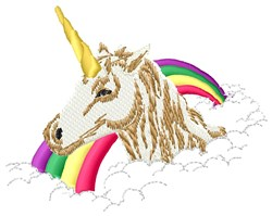 Unicorn Rainbow embroidery design