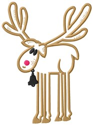 Reindeer Outline embroidery design