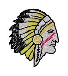 Indian Head embroidery design