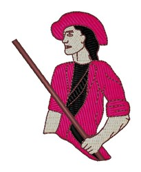 Minutemen embroidery design