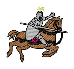 Medieval Knight embroidery design