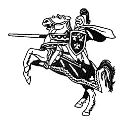 Knight embroidery design
