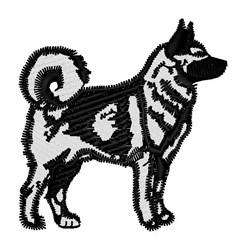 Husky Mascot embroidery design