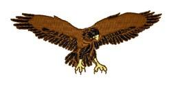 Hawk embroidery design