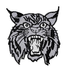 Jaguar Mascot embroidery design