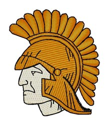 Trojan Mascot embroidery design