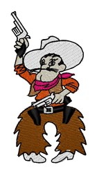 Cowboy Mascot embroidery design
