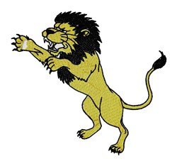 Lion Mascot embroidery design