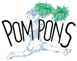 Pompons Cheerleader embroidery design