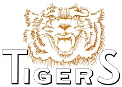 Tigers Logo embroidery design