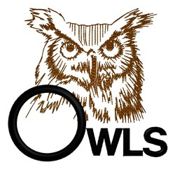 Owls Logo embroidery design