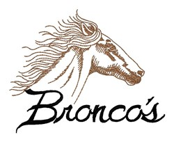 Broncos Logo embroidery design