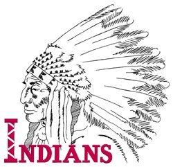 Indians Logo embroidery design