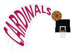 Cardinals Basketball embroidery design